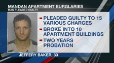 Bismarck man pleads guilty to breaking into apartment buildings