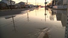 Large water main break causes road closures in Ventnor, New Jersey