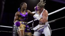 Claressa Shields, left, won every round on every judge's scorecard to unify the 154-pound championship with a victory over Marie-Eve Dicaire.