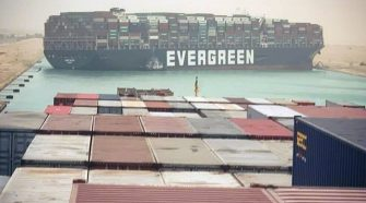 Suez Canal Blocked After Container Ship Gets Stuck