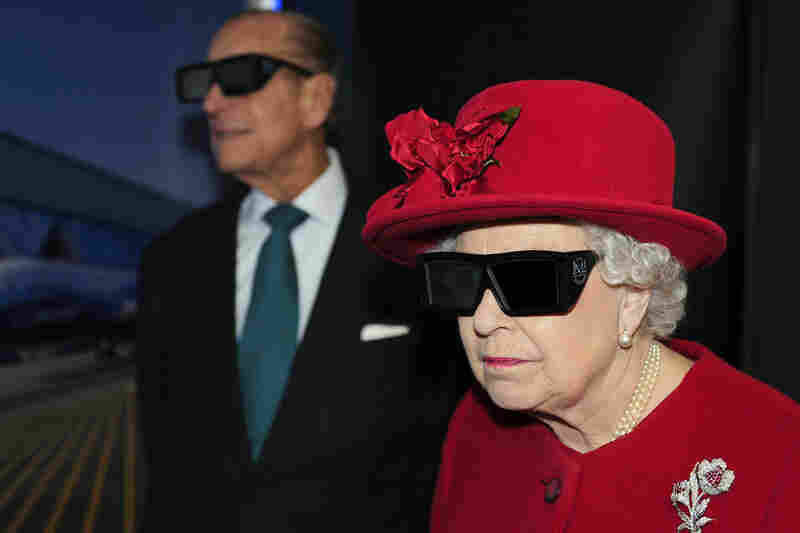 The royal couple dons 3D glasses during a visit to England's University of Sheffield in November 2010.