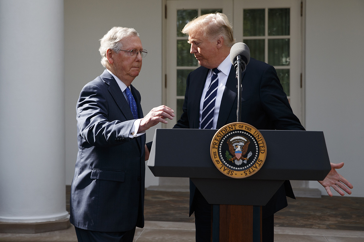 Republicans pray for truce after Trump attacks on McConnell